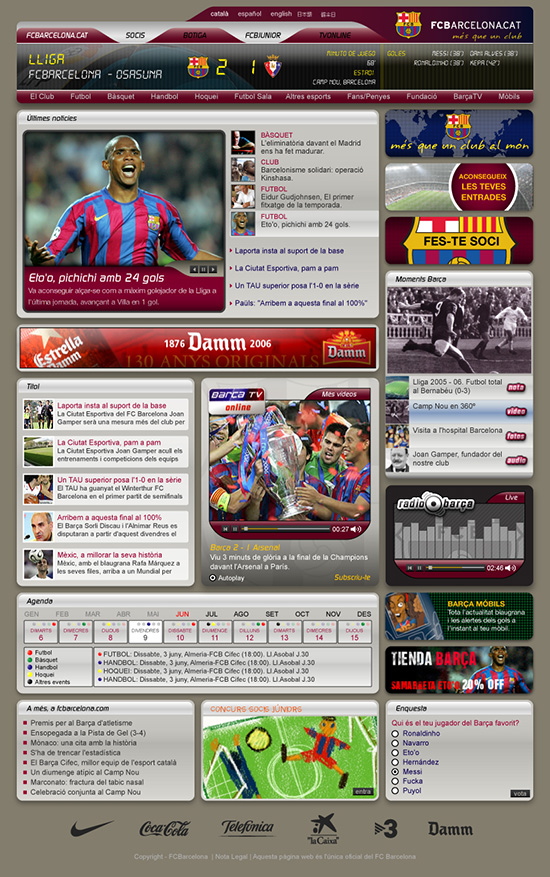 FCB Home page